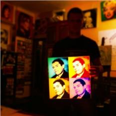 Дизайнерский 3D светильник с Вашим портретом Поп-арт