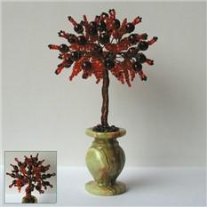 Дерево желаний из граната в вазочке из оникса