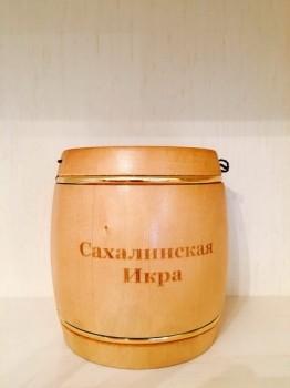 Сахалинская икра в эксклюзивном бочонке (500гр)