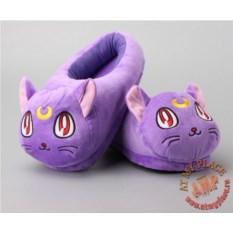 Фиолетовый тапочки-игрушки Кошка Луна