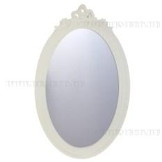 Декоративное овальное зеркало (цвет — белый)