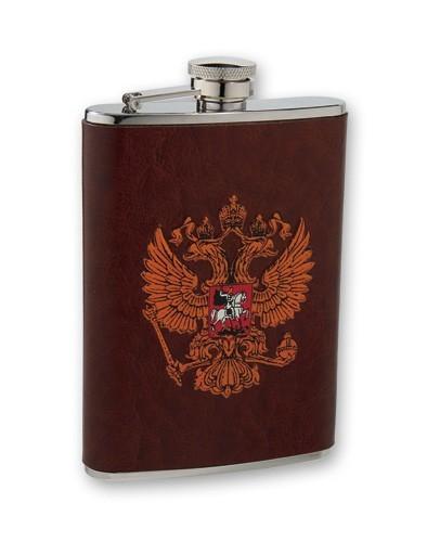 Металлическая фляга S.Quire Герб России, 0,24 л