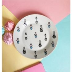 Фарфоровая тарелка Тюльпаны