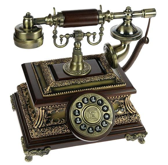 Ретро телефон в стиле ренессанс Дворецкий