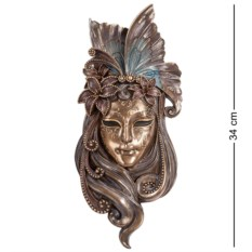 Большая венецианская маска Лилия (цвет — бронзовый)