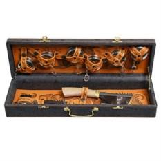 Набор для шашлыка на 6 персон в кожаном кейсе