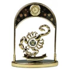 Декоративная фигурка с часами - знак Зодиака Скорпион