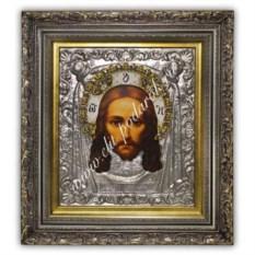 Икона с эмалями Спас Нерукотворный