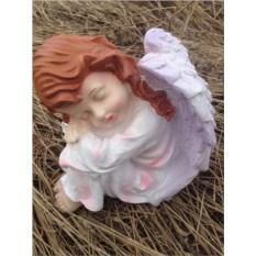 Садовая фигура Ангел с головой влево