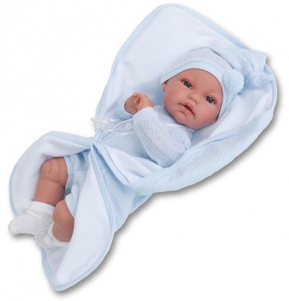 Озвученная кукла-младенец Мило в голубом