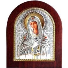 Икона Божьей Матери Умиление в серебряном окладе