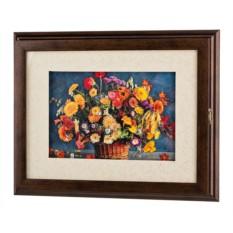 Ключница «Корзина садовых цветов»
