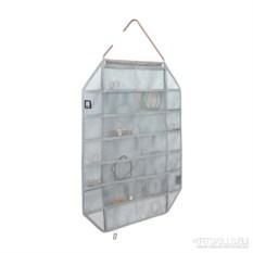 Серый органайзер для украшений Facetta