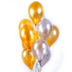 Букет шаров Golden-Platinum