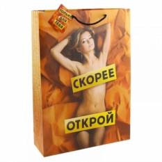 Подарочный пакет Скорее открой