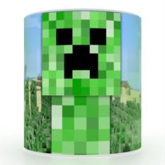 Кружка с 3D печатью Криппер
