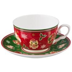Чайный набор на 1 персону Новый Год