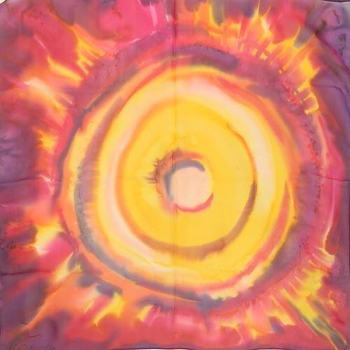 Платок из натурального шелка Солнечное затмение