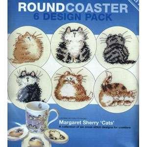 Набор для вышивания Cat Coaster Round