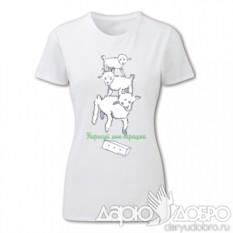 Женская футболка Маленький Принц. Барашек