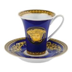 Синяя кофейная пара Medusa