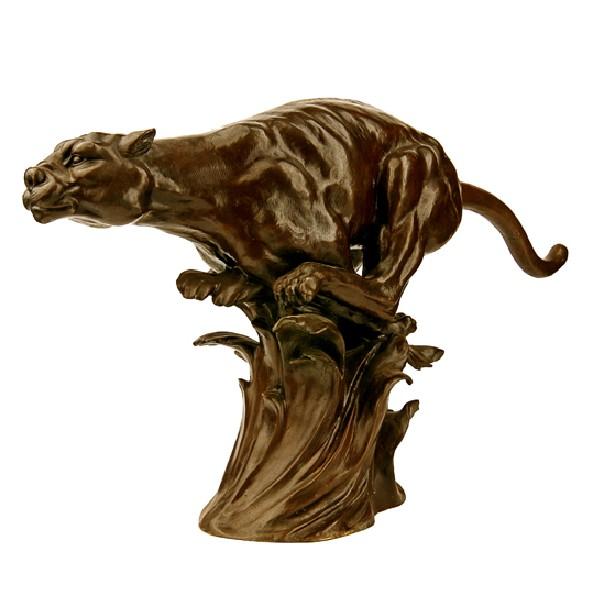 Бронзовая статуэтка Пантера в прыжке