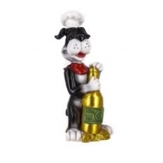 Декоративная фигурка Собака с бутылкой шампанского