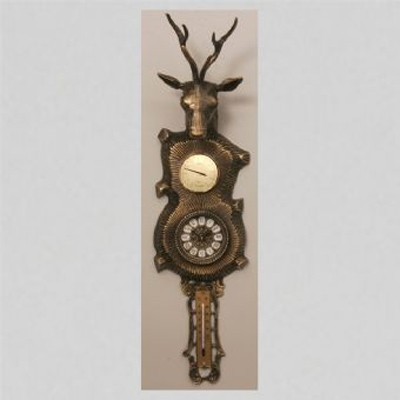 Часы-фигура из бронзы Virtus Голова оленя