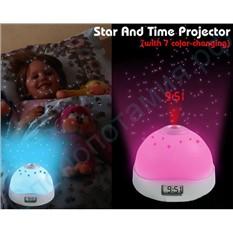 Проекционный будильник со звездами