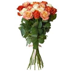 Букет из 25 роз Микс высотой 50 см