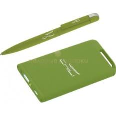 Зеленый прорезиненный набор Ручка и источник энергии