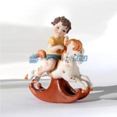 Фарфоровая статуэтка Мальчик на лошадке