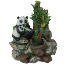 Фонтан с помпой Две панды у бамбука