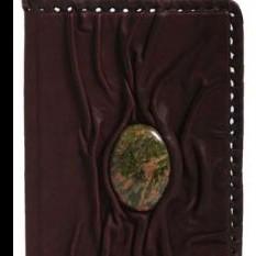 Обложка для паспорта Зеленая яшма