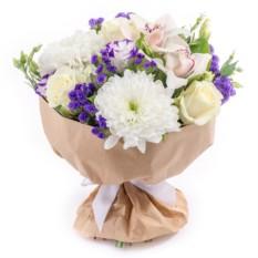 Букет цветов Любящее сердце