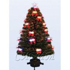 Оптоволоконная елка со светодиодами в виде колокольчиков
