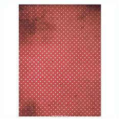 Рисовая бумага для декупажа Красный горох, A3
