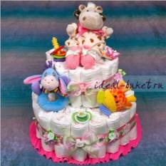 Торт из памперсов Малышка V.I.P.