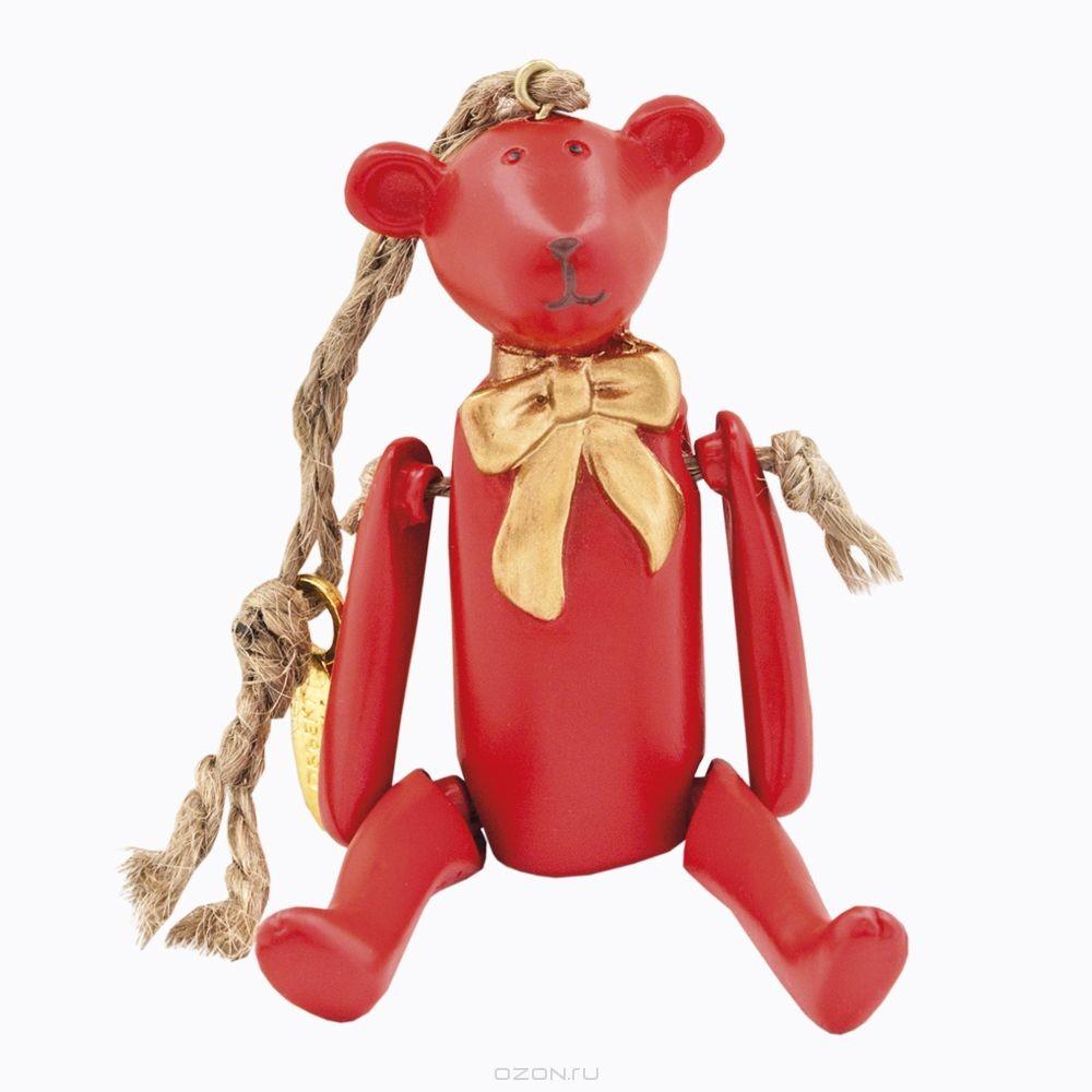 Игрушка Счастье с праздничным бантом, цвет: красный