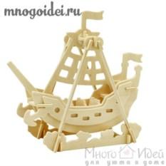 Деревянный конструктор 3D Корабль