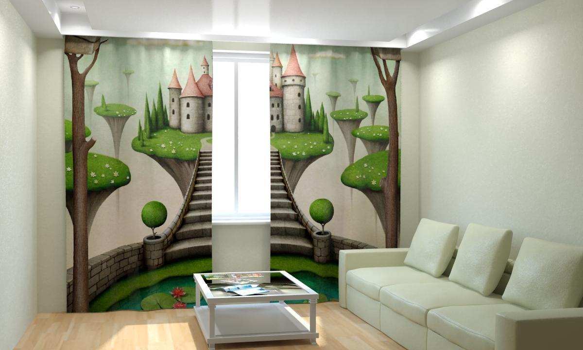 Фотошторы Зеленый Замок