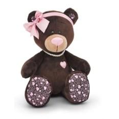 Мягкая игрушка Медведь-девочка Milk, сидячая, 30 см, Orange Toys