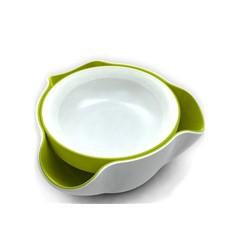Блюдо для снека (цвет: бело-зелёный)