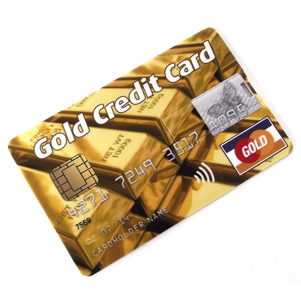 Флешка кредитка Gold Credit Card 4GB слитки