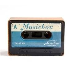 Музыкальная коробочка Retro Cassette Swan Lake Blue