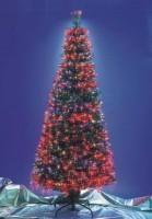 Оптоволоконная искусственная ель (красные иголки)