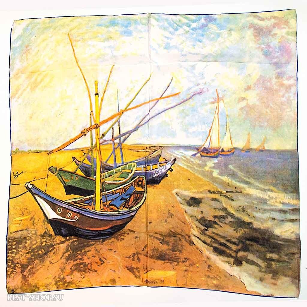 Платок Лодки в Сент-Мари Ван Гог