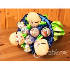 Букет из Kinder Surprise и игрушек Миньоны для мальчика