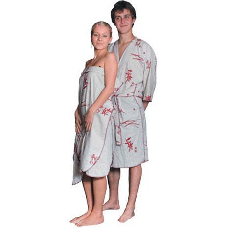Комплект — халат и парео для бани