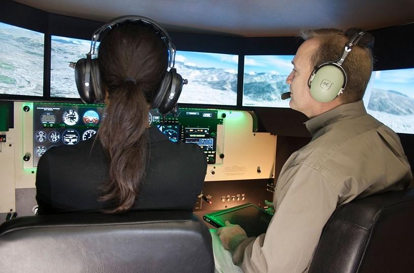 Виртуальное пилотирование на тренажере-симуляторе (30 минут)